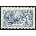 1915 De La Rue Printing, 10/- pale blue, very fine MH. Spec. no. N70(4)