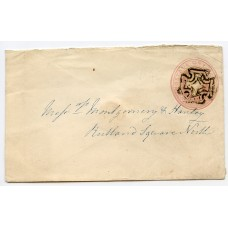 Ireland 1843 1d pink p/stat with DUBLIN distinctive special Maltese Cross