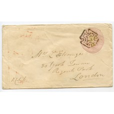Ireland 1844 1d pink p/stationery with DUBLIN distinctive special Maltese Cross