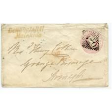 "Ireland 1847 1d pink p/stat. ""Donabate RH/ Malahide"""