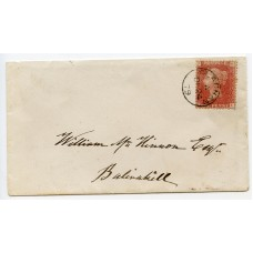 "1879 cover with 1d pl 212 cancelled by the Clachan, Argyll ""thimble"" circular datestamp."