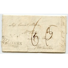 """Sussex 1799 cover to London with very fine """"ROTHERS BRIDGE"""" postmark"""