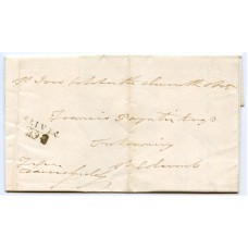 "Cornwall 1805 cover ""ST IVES/ 292"" mileage mark sent FREE to St Columb"