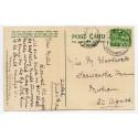 "1914 p/c ½d  KGV  tied by scarce ""Zelah/Callestick/11 JUN 14/Cornwall"" rubber ds"