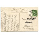 """Cornwall 1914 p/c ½d  KGV  tied scarce  """"Tregeare/Egloskerry/10 SEP 14/Cornwall"""" rubber ds"""