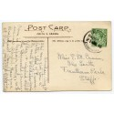 """Cornwall 1916 p/c with  ½d  KGV  """"Trevone/Padstow/21 AUG 16/Cornwall"""" rubber ds"""