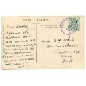 """Cornwall 1910 p/c with  ½d  KEVII  """"Trespen /8 JUL 10/Truro"""" rubber ds"""