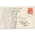 """Cornwall 1925 p/c - 1d  KGV  """"Poughill/Bude/ 11 AUG 25/ Cornwall""""  rubber ds"""