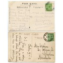 "Cornwall 1913/15 p/cs -½d  KGV  ""Lamorna/9 JUL 13/ and 21 OCT 15/Penzance"" rubber ds"