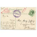 """Cornwall 1908 p/c with KEVII  ½d  """"Lamorna/11 SEP 08/Penzance"""" rubber ds"""