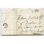 "1704 entire letter London to Edinburgh with ""5""d rate + Bishop Mark"