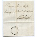 1784 Peter Williamson's Penny Post Service cover sent within Edinburgh