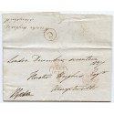 "1837 ""FREE"" entire letter to Wales with ""Scalloped"" Sunday datestamp"