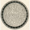SUPERB 1839 Perkins Bacon printing sample with 10 Commandments in 6d