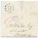 1840 FIRST DAY OF UNIFORM PENNY POSTAGE cover Wrexham to Shrewsbury