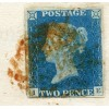 """1841 """"Weekly Return by the Steward at Thirlstane Castle"""" with 1840 2d blue Pl.1"""