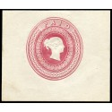 """1840 postal stationery essay by Charles Whiting with """"Wyon"""" head"""