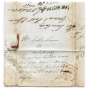 1847 letter of complaint to Col. Maberley regarding postal charges