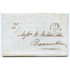 "1840 Edinburgh cover with special ""2"" charge dated  AP 16 1840E"