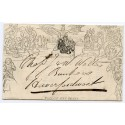 "1843 1d Mulready wrapper - ""Clerical, Medical and General Life Assurance Society""  from Aberystwyth"