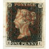 SUPERB illustrated 18401d black pl. 4 on letter from Albion Brewery in Stoke Newington