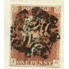 1841 1d red-brown pl 5 on SUPERB hand illustrated letter to Chelmsford from London, black Maltese X