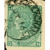 "1867-1898 SUPERB 1/- ""Stock Exchange Forgery""  pl. 5 lettered D.H."