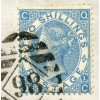 """RARE 1876 cover to MEXICO with 1867 2/- dull blue tied by London """"98"""" numeral"""