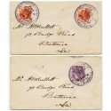 "1890 ""Penny Postage Jubilee"" a pair of covers; 1d lilac and 2x ½d vermilion"