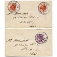 """1890 """"Penny Postage Jubilee"""" a pair of covers; 1d lilac and 2x ½d vermilion"""