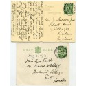 "1913 ½d Downey p/s card + p/c  with ""GK & Ardrishaig Packet""  ""Columba""  cds"