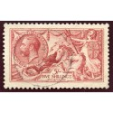 1915 De La Rue 5/- bright carmine superb used with single c.d.s. S.G. 409.