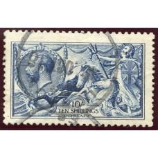 1915 De La Rue 10/- deep blue very fine used with London rubber cds S.G. 411.
