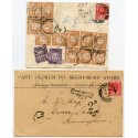 Spectacular 1924-31 postage due frankings 8 covers from Nigeria