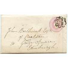 "1843 1d pink p/stat  to Edinburgh superb strike London No ""8"" in  Maltese cross"