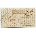 "1845 cover to Jamaica rated ""1/2d""  with boxed ""Posted After 7 o'Clock At Night"" handstamp."