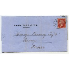 1858 cover with 1d Pl 36 tied by Inverness experimental duplex to Raasay