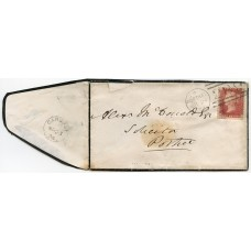 1874 cover with 1d pl 152, from Carbost, Isle of Skye, to Portree