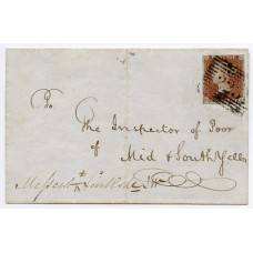 "1848 cover with 1d ""missent"" within the Shetland Islands."