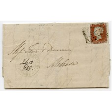 1845 cover with 1d red-brown to Melrose with Glencarradle Guaranteed Post handstamp.