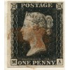 1840 cover with 1d black pl 2 from Fort William, to Inverness with red Maltese cross.
