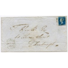 1845 cover with 2d pl 3 Glencarradle / Tarbert Private Post to Edinburgh.