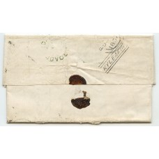"1857 cover with 1d bearing verso ""Kyleakin"" type V handstamp in black ink."