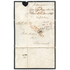 "1840 cover from Lerwick to Edinburgh with ""step type"" Ship Letter handstamp."