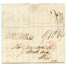 1817 cover from Demerara (British Guiana)  to Isle of Skye.