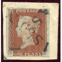 "1841 1d red-brown issue with 2 strikes of  ""Assynt"", Sutherland type 1 local mark"