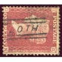 "1857 1d rose-red issue with ""Loth"", Sutherland, type V Scots Local handstamp."