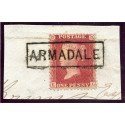 "1857 1d rose-red issue with ""Armadale"", Sutherland, type VIII Scots Local mark."