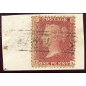 "1857 1d rose-red issue with ""Deerness"" Orkney Islands, type V Scots Local mark."