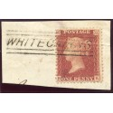 "1857 1d rose-red with ""Whitecairns"" Aberdeenshire, type V Scots Local mark."